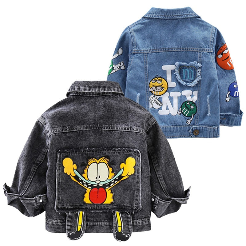 Baby Boys Cartoon Denim Jacket