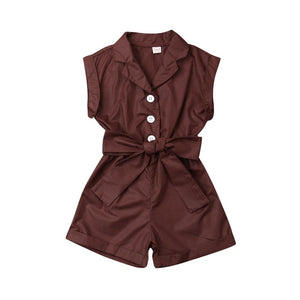 Turn-down Collar One-Pieces Romper