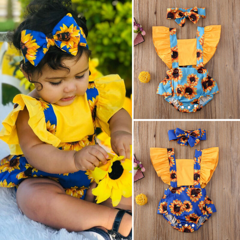 Sunflower Romper Set
