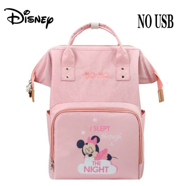 Disney Pink Series USB Diaper Bag