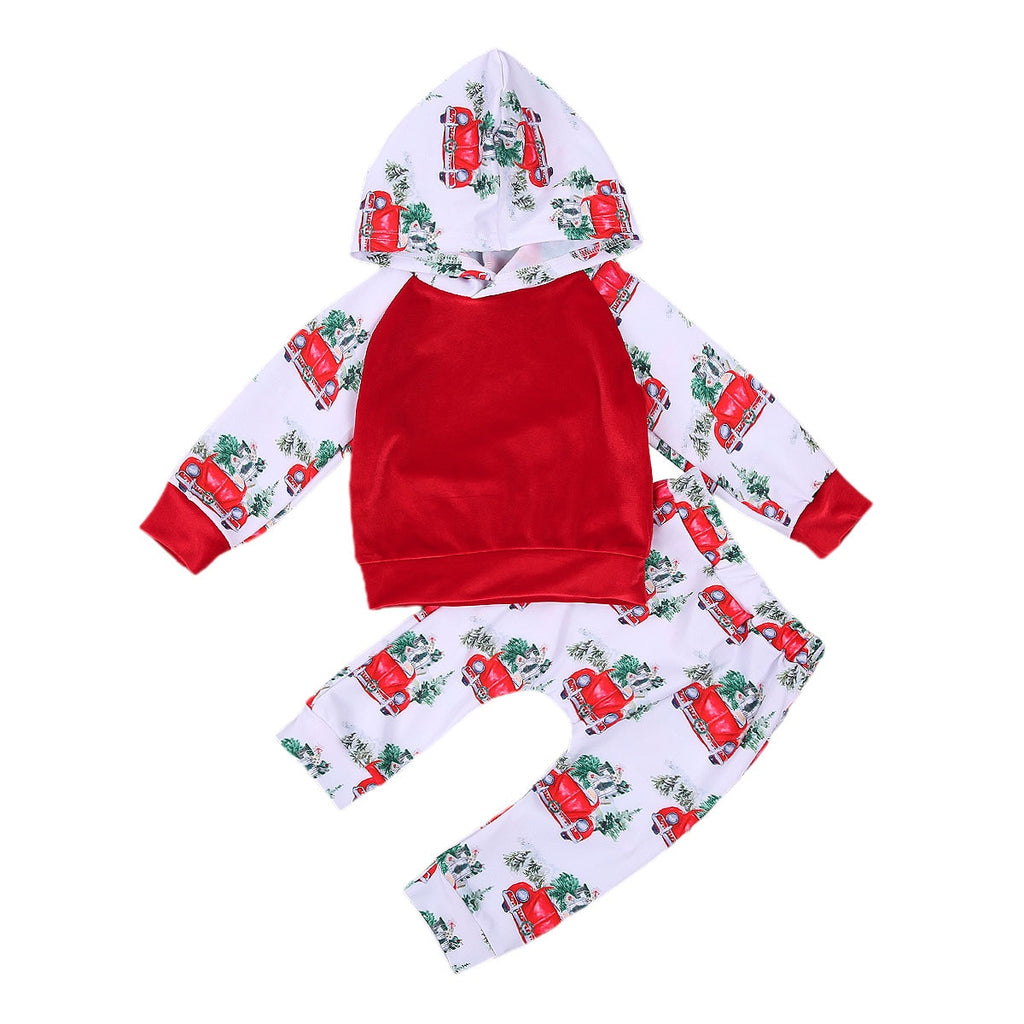Christmas Car Hooded Set