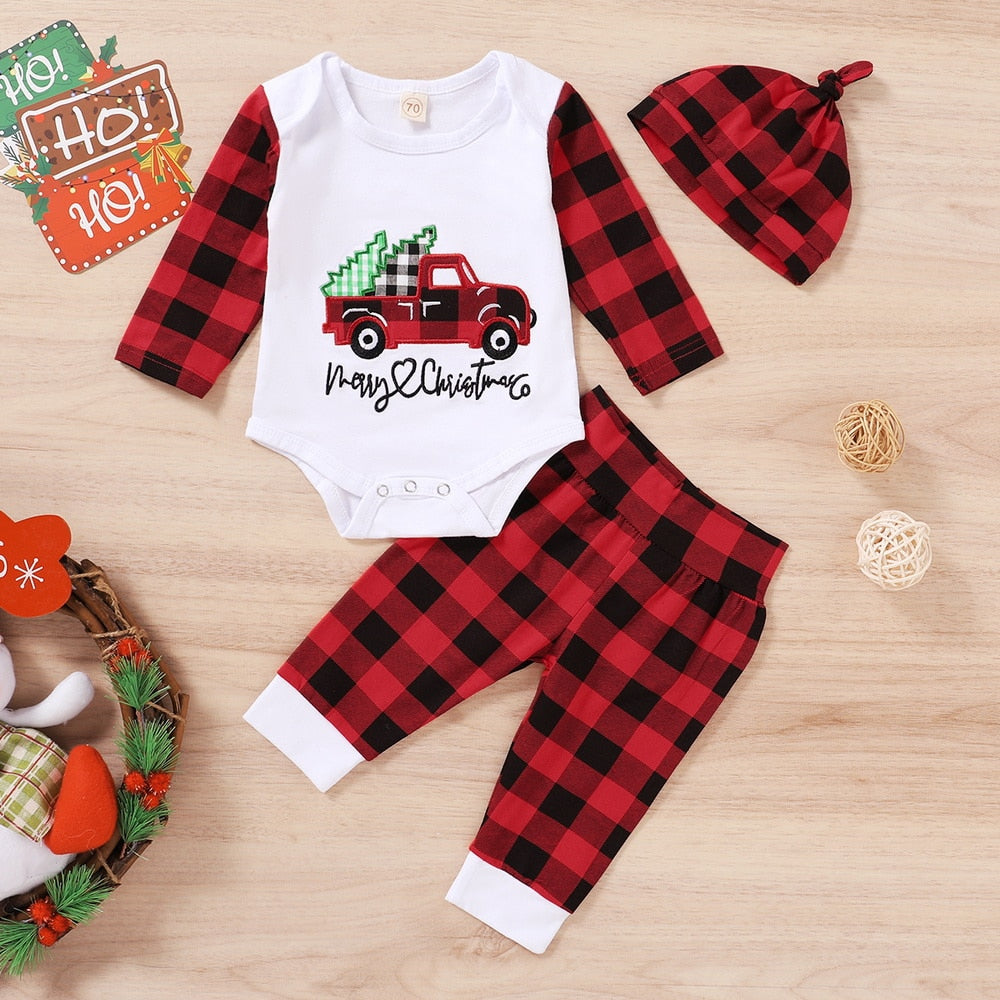 Merry Christmas Plaid  Set