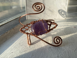 COPPER+AMETHYST SWIRL EYE BRACELET