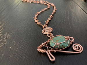 COPPER+TURQUOISE NECKLACE