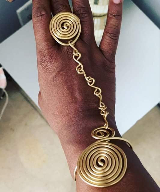 BRONZE VORTEX RING BRACELET