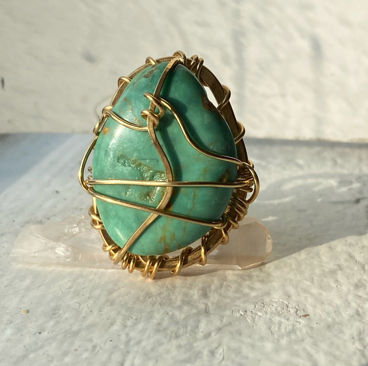BRONZE+TURQUOISE RING
