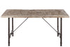 Table A Manger Rectangulaire Bois/Metal Gris 180X90X75Cm