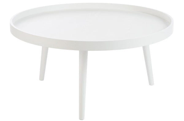 Table basse de Salon Bord Rond Bois Blanc