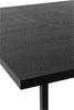 Table A Manger Rectangulaire Pied Central Mdf/Metal Noir