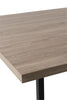 Table A Manger Rectangulaire Pied Central Mdf/Metal Naturel/Noir