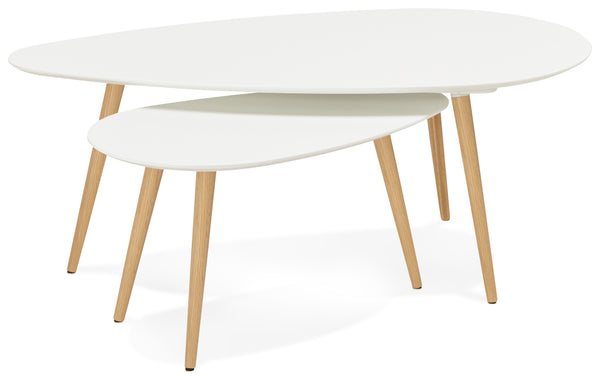 Table gigogne design GOSMI Blanche