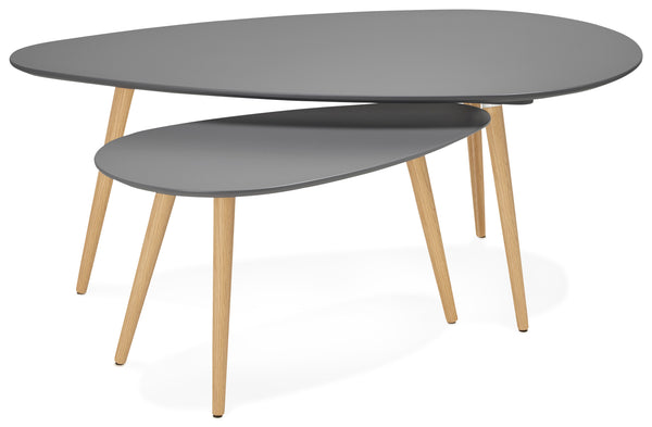 Table gigogne design GOSMI Grise