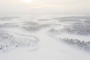 A white day in Lapland