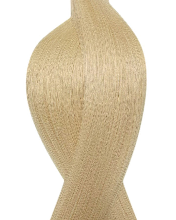 "Seamless clip in hair extensions UK available in #613 bleach blonde sunny haze 18"" and 20"""
