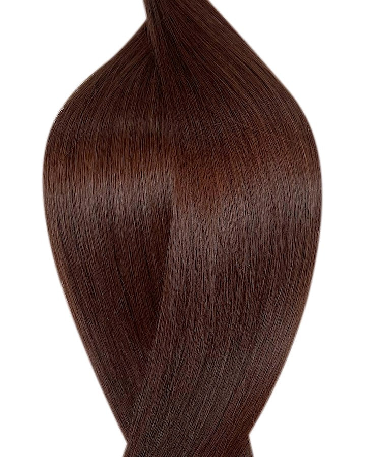 "Seamless clip in hair extensions UK available in #3 chocolate deep 18"" and 20"""