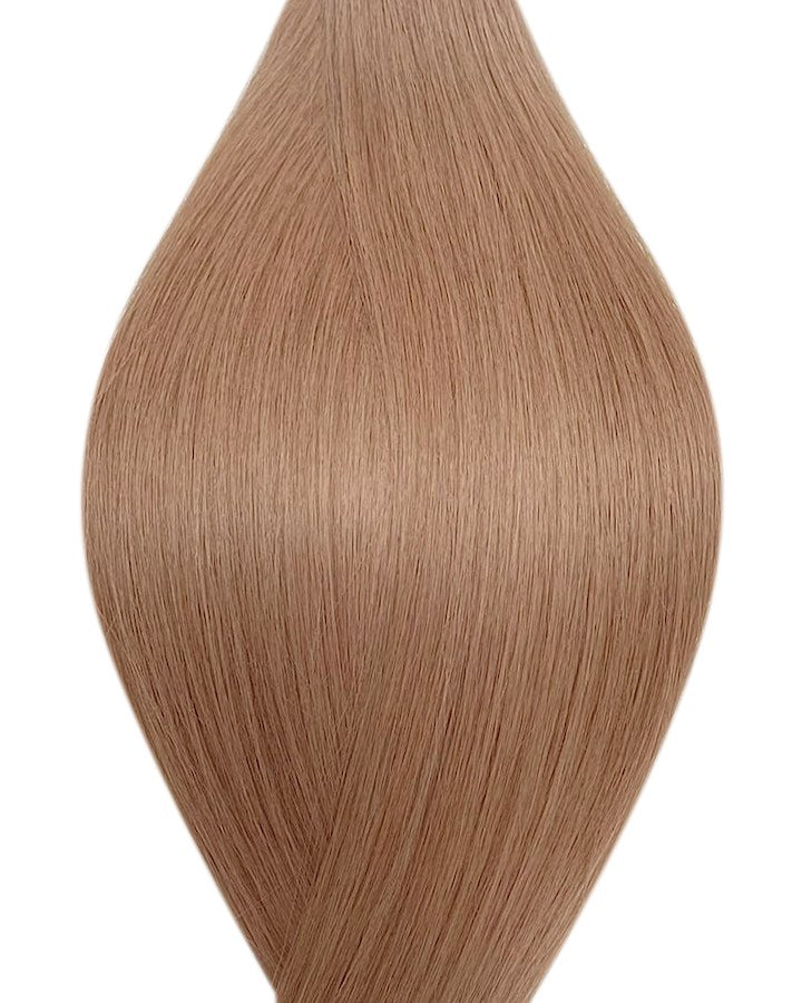 "Seamless clip in hair extensions UK available in #14 dark blonde champagne blonde 18"" and 20"""