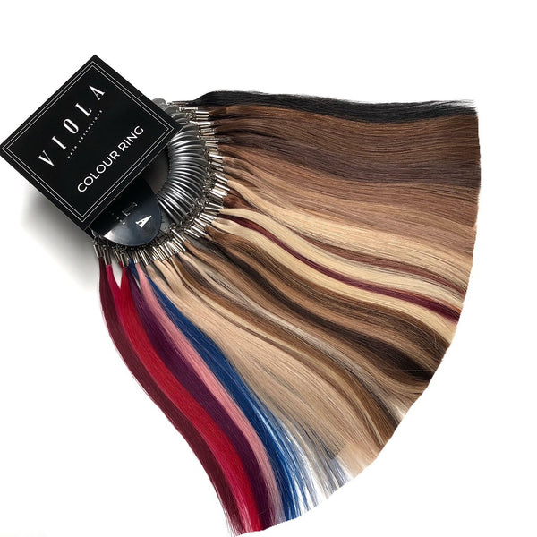 Viola hair extensions colour ring for colour matching