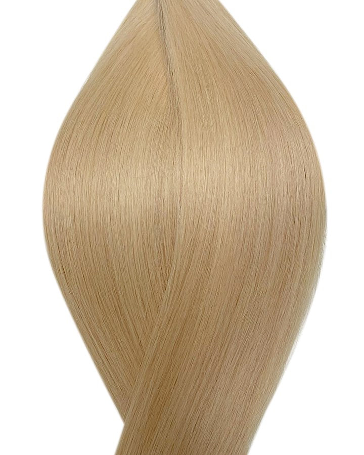"Seamless clip in hair extensions UK available in #22 light ash blonde sandy blonde 18"" and 20"""
