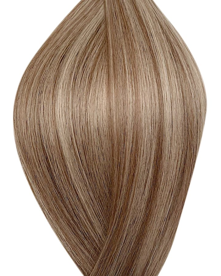 Seamless clip in hair extensions UK available in #P8/16 light brown medium blonde mix Sydney dream and 20""