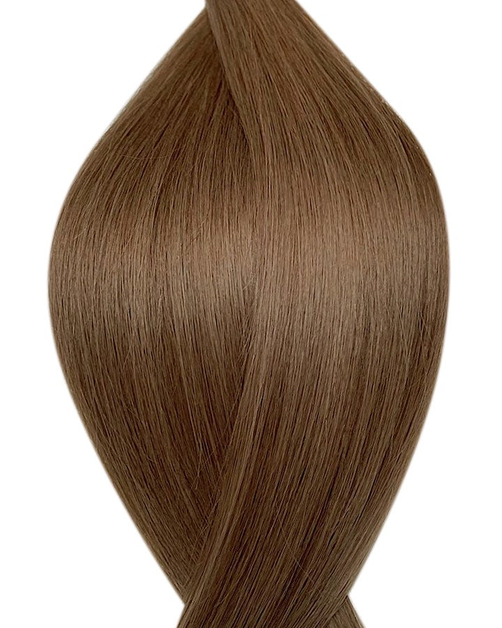 "Seamless clip in hair extensions UK available in #8 light brown wild truffle 18"" and 20"""