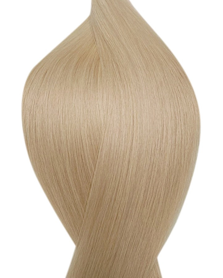 "Seamless clip in hair extensions UK available in #16 medium ash blonde starlet blonde 18"" and 20"""