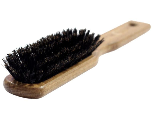 Soft bristle brush for hair extensions
