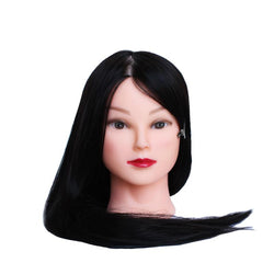 Synthetic hair training head
