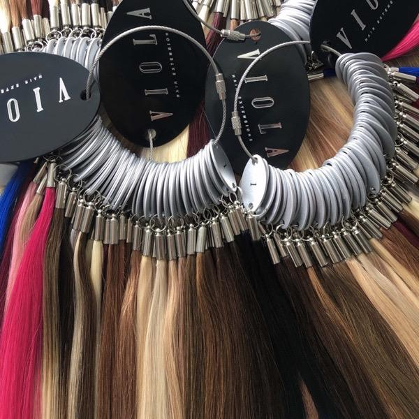 Viola Hair Extensions individual color ring swatch