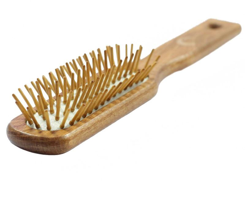 Wooden pins brush for wigs