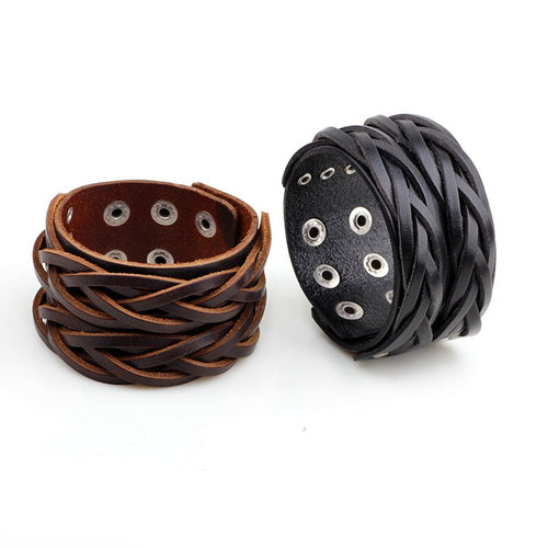 braided leather bracelet K028