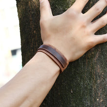 Load image into Gallery viewer, Leather Bracelet Brown K033