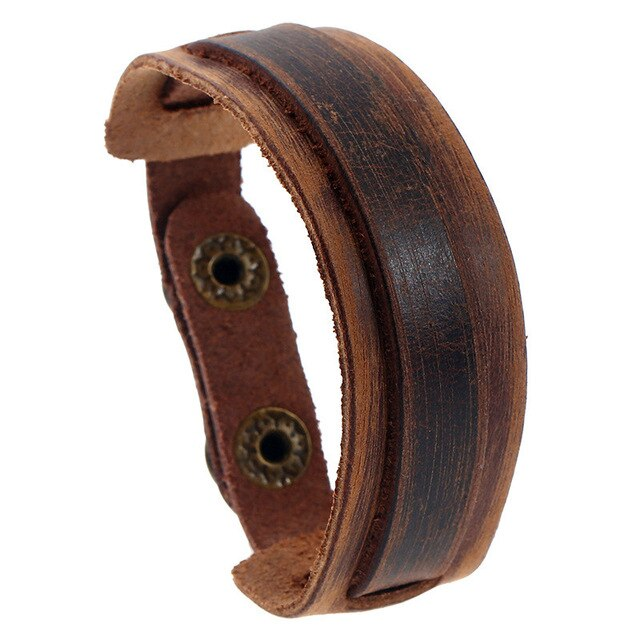 Leather Bracelet Brown K033