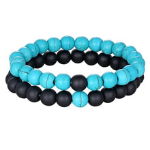 Load image into Gallery viewer, beaded bracelet stones Yoga 2pcs/set 7 Styles B001
