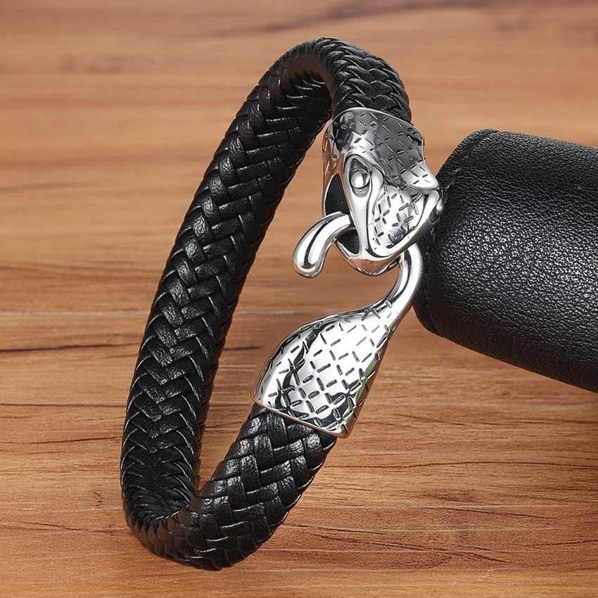 Leather Bracelet with stainless steel G013