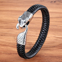 Load image into Gallery viewer, Leather Bracelet with stainless steel G013