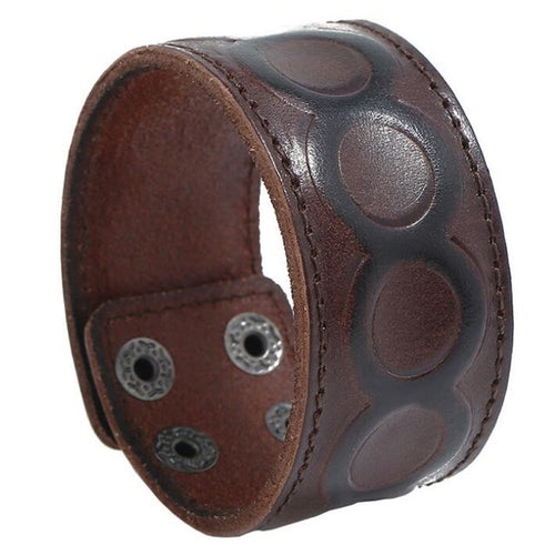 Fashion Punk Wide Leather Wristband K001