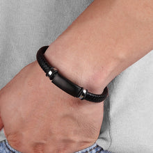 Load image into Gallery viewer, Leather Bracelet with stainless steel G017 (several variants of colours)