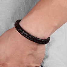 Load image into Gallery viewer, Leather Bracelet with stainless steel G023 (several variants of colours)