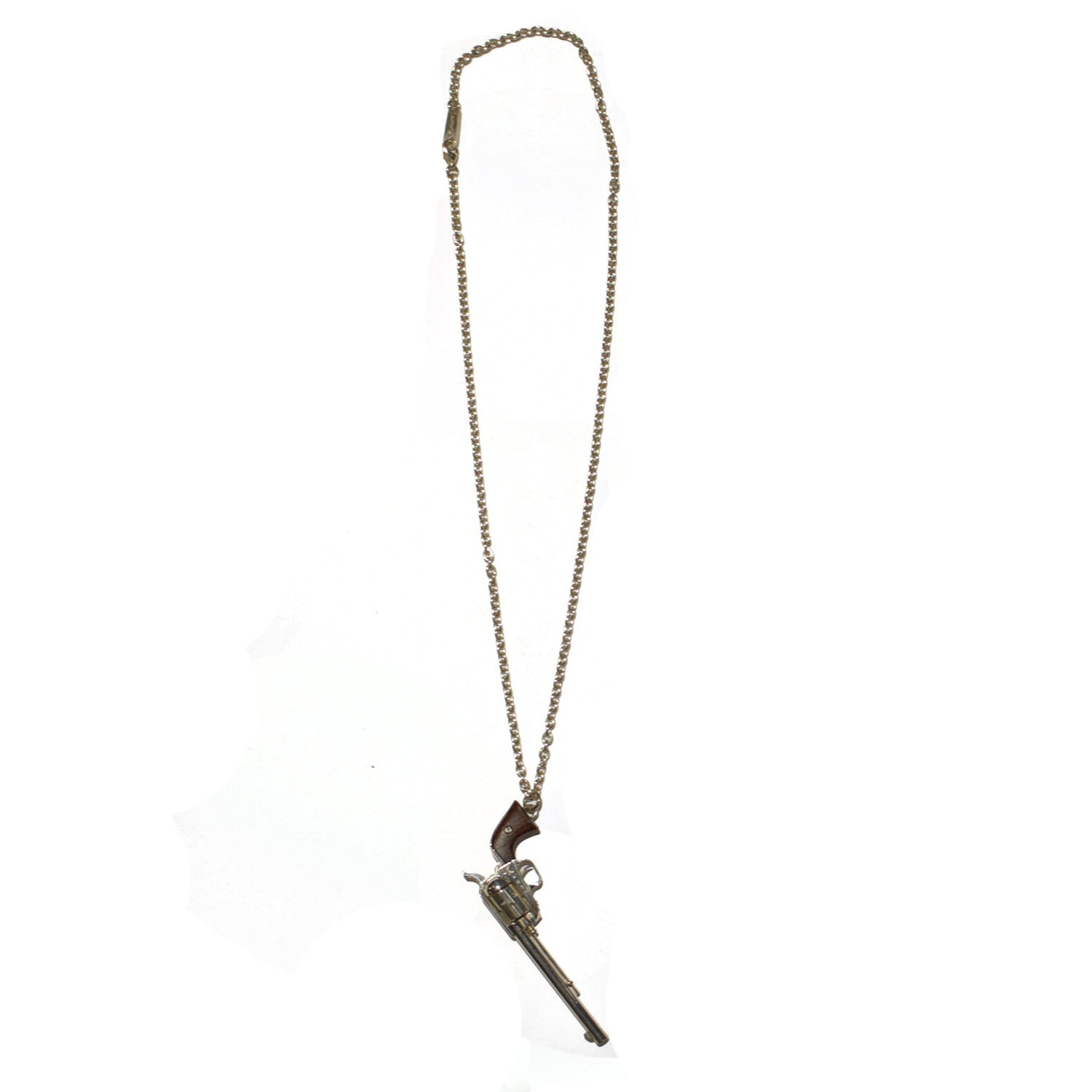 Load image into Gallery viewer, ATOMIC NUMBER 47 CROSSGUN NECKLACE / WOOD