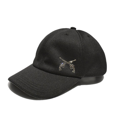 COOL MAX SMALL CROSSGUN SWAROVSKI 6 PANEL CAP