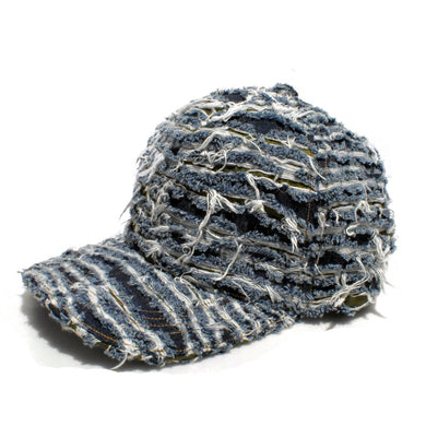 QUILTING OPAL DENIM CAP INDIGO