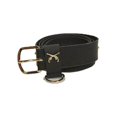 RUBBER LIKE LEATHER STUDS BELT