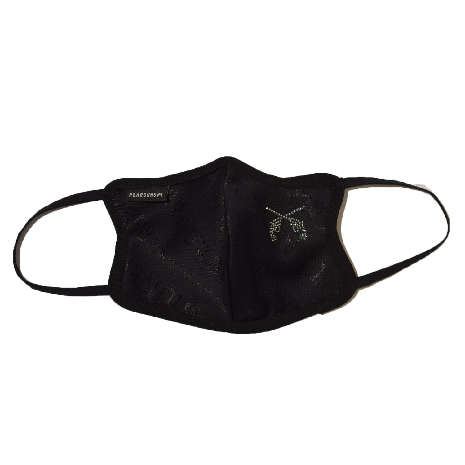 将图片加载到图库查看器,NEW LOVE AND PEACE JACQUARD MASK SMALL CORSSGUNS BLACK / BLACK DIAMOND