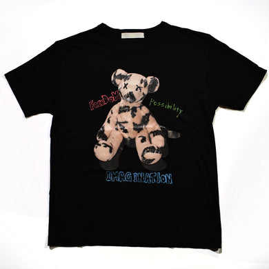 PHOTO BEAR LYOCELL T / BLACK / WOMAN