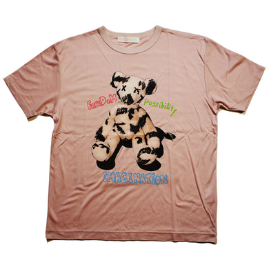 PHOTO BEAR LYOCELL T / PINK / WOMAN