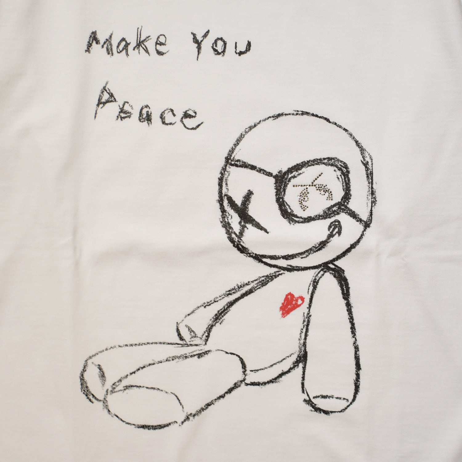 Load image into Gallery viewer, MAKE YOU PEACE DOLL T / WHITE