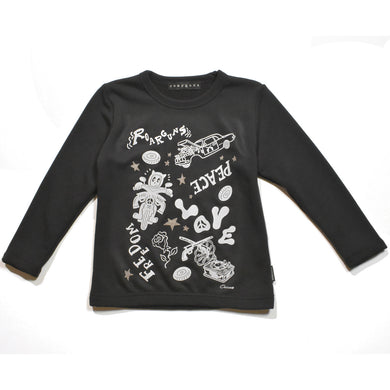 × CHOCOMOO KIDS T GRAPHIC / BLACK