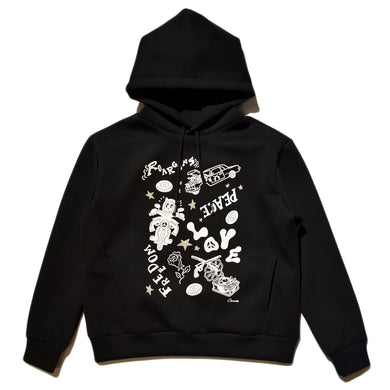 × CHOCOMOO PULLOVER GRAPHIC HOODIE WOMAN