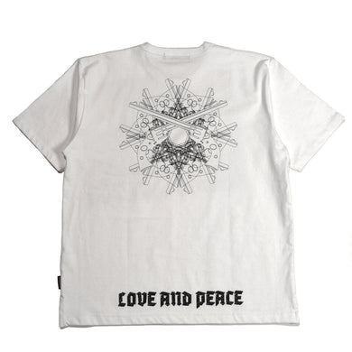 LOTUS FLOWER PRINT REGULAR SIZE T / WHITE
