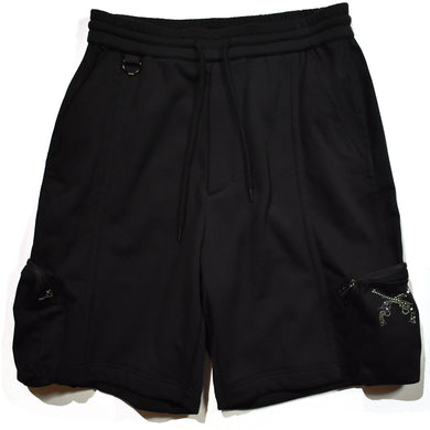 CORDURA BACK SATIN SHORTS / BLACK